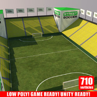 3ds max street soccer court arena