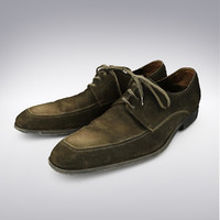 leather suede dress shoe 3d max