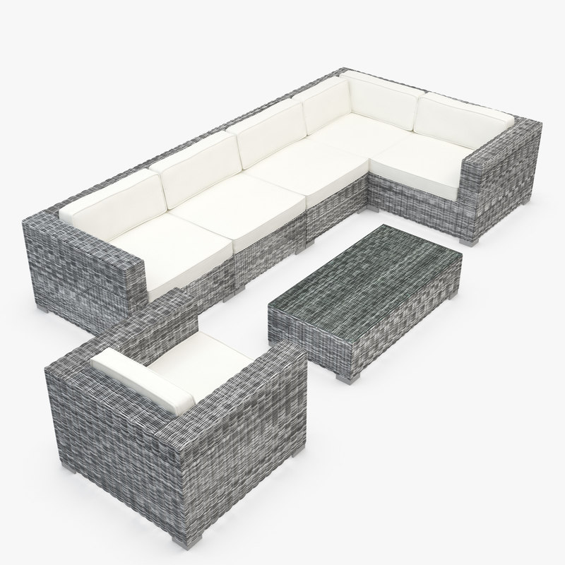 furniture synthetic rattan 3d model