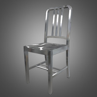 Navy Metal Chair