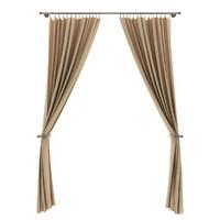 3d beige curtains model