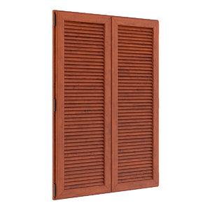 wooden external shutter 3d c4d