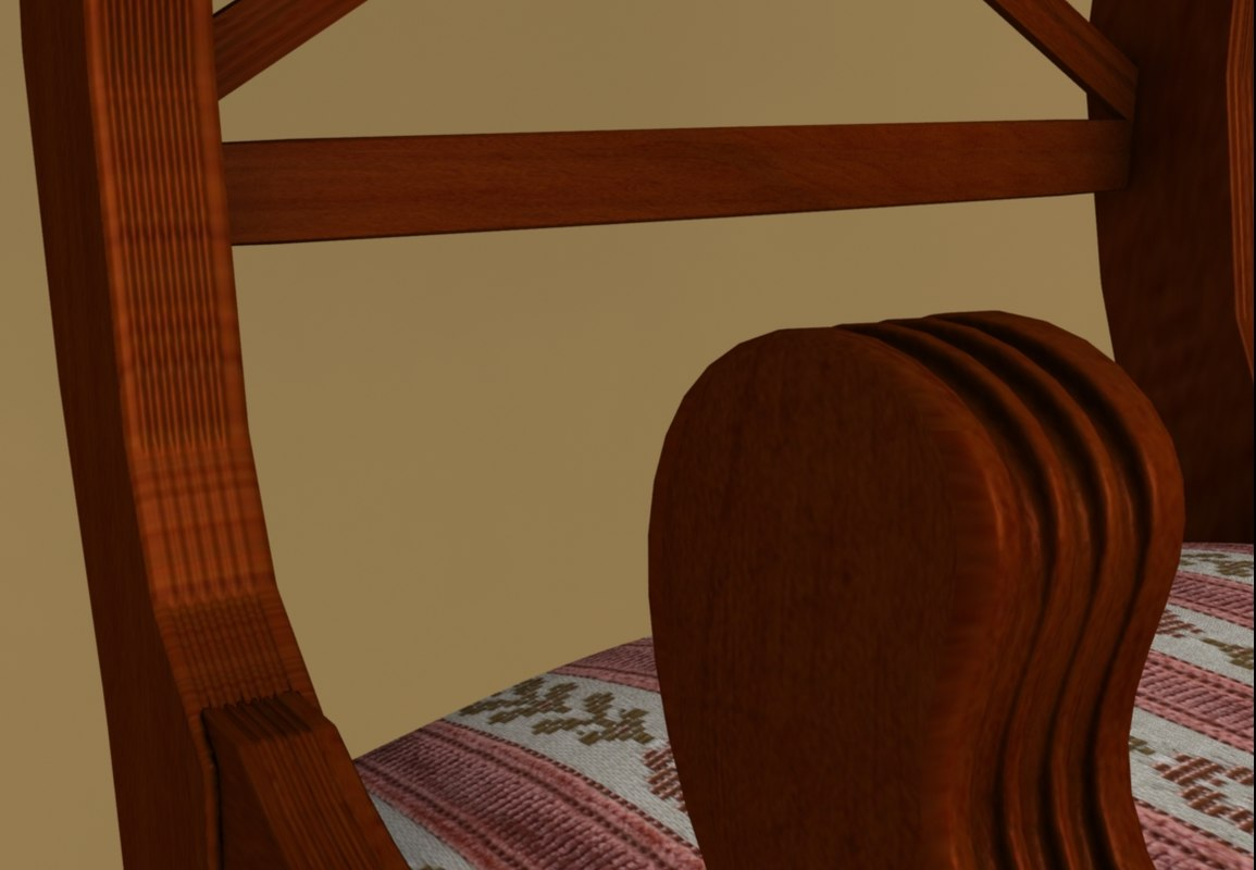 3ds max english chair 19th century