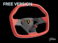 lamborghini steering wheel 3d model