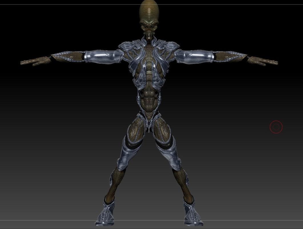 3d model alien armor
