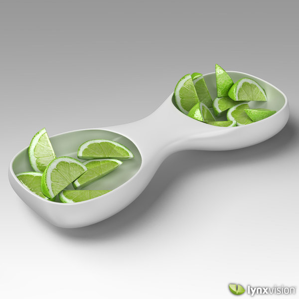 3ds max ceramic tray sliced limes