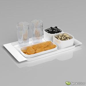 programma 8 tray snacks 3d model