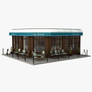 france restaurant 3d model