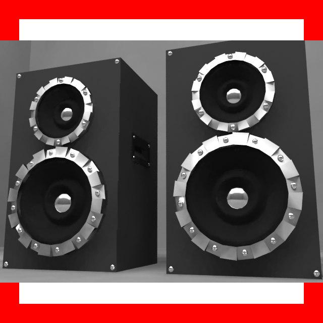 3d model of speaker columns