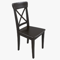 3ds ikea ingolf brown-black chair