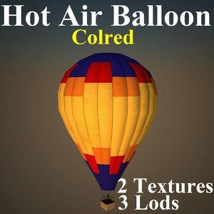 hot air balloon col 3d max
