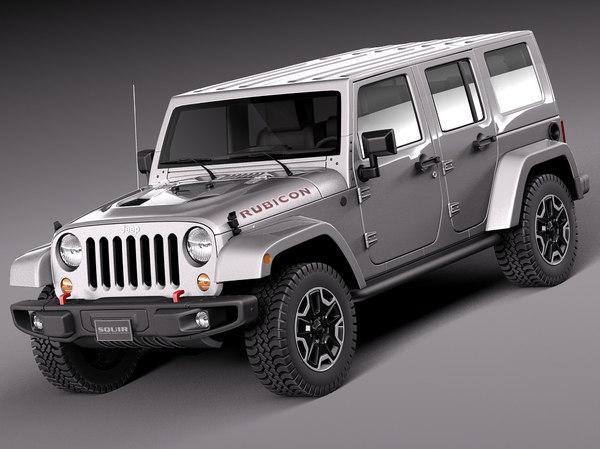 3d model 2014 jeep wrangler