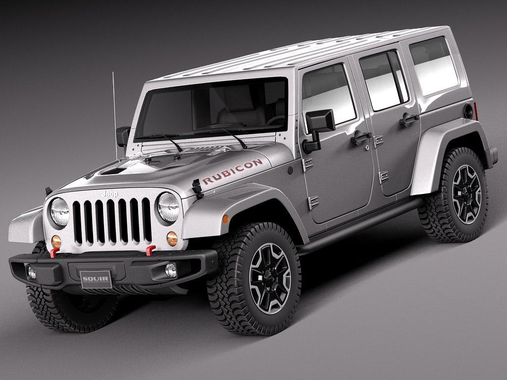 3d model 2014 jeep wrangler. Black Bedroom Furniture Sets. Home Design Ideas