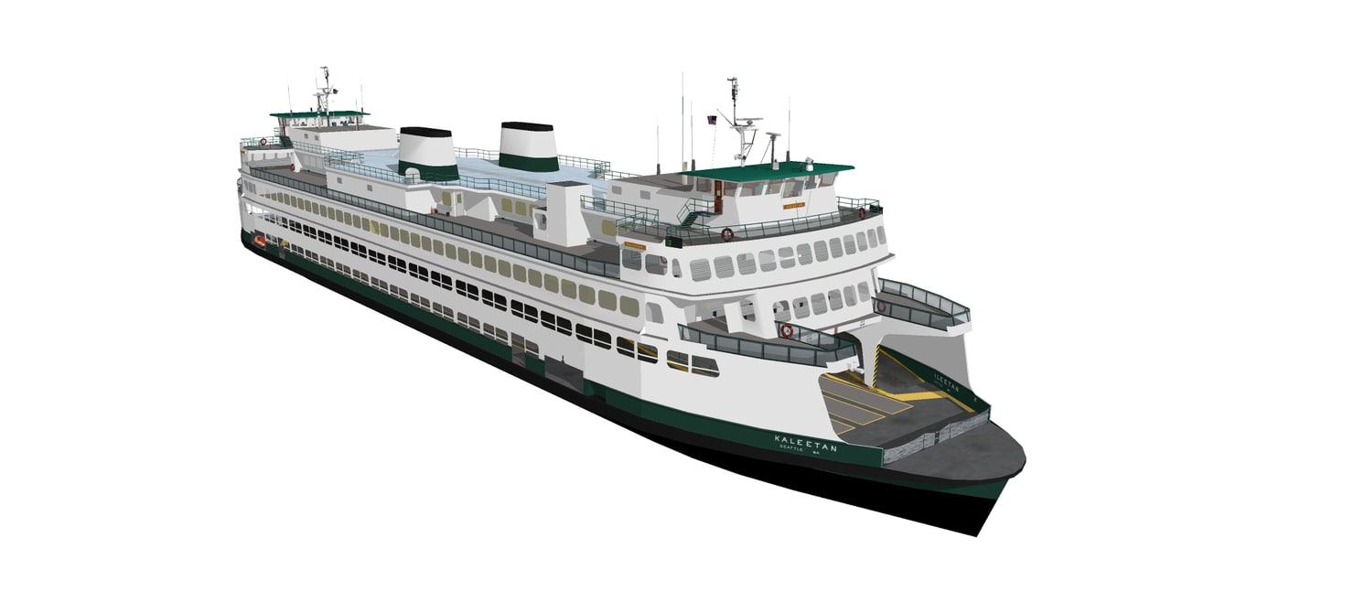 ferries washington state 3d model