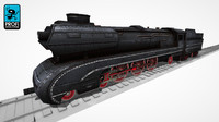 steam locomotive ls 02 3d max