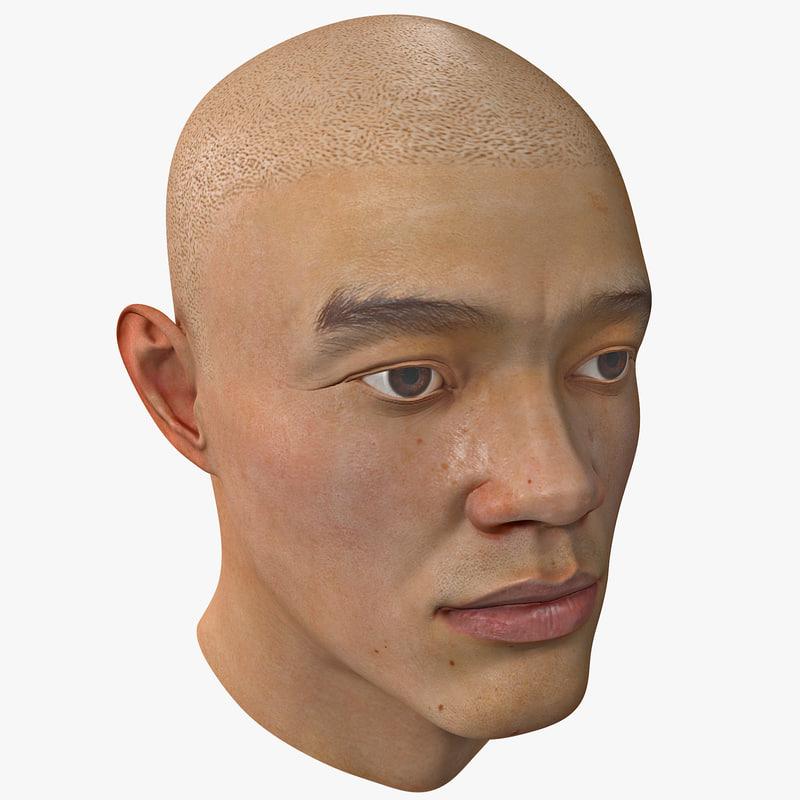 3d male head 11
