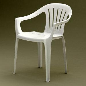 3d model realistic monobloc chair