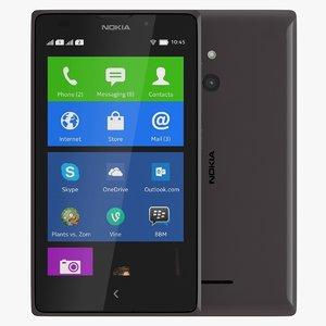 3d model nokia xl black