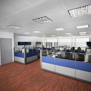 3d scene office