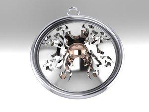 3d model of pendant designed