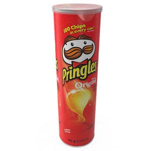 pringles potato chips 3d model