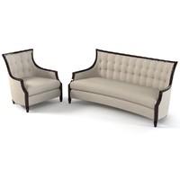 Schnadig 3740-004-b 3740-082-A   Sofa & Chair Set