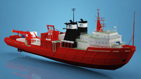 3d photorealistic diving boat ship
