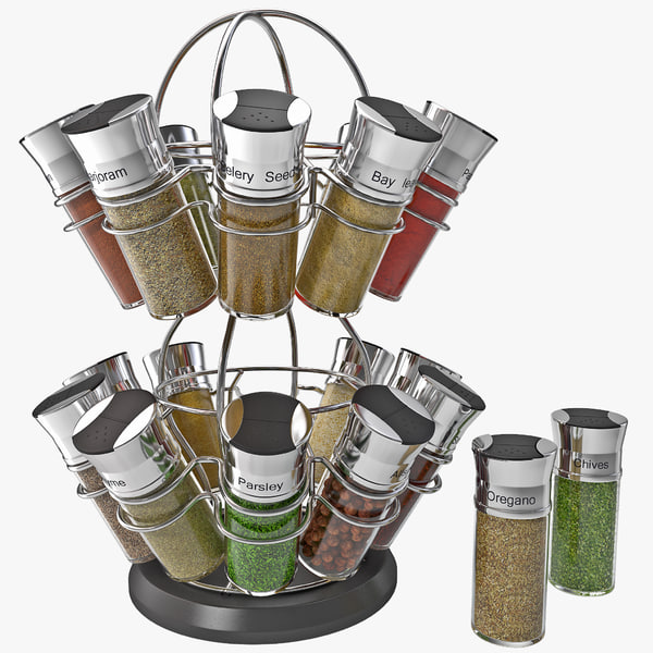 3d model spice rack
