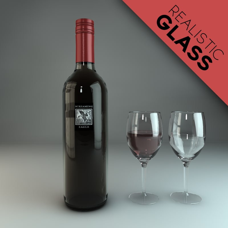 3d model wine screaming eagle