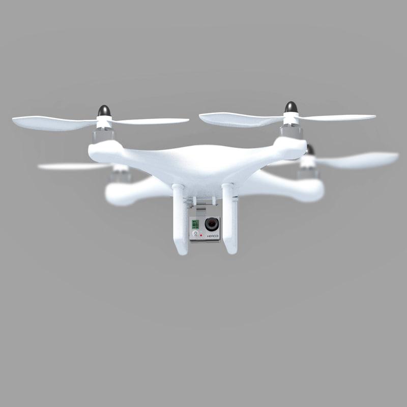 quadcopter pro 3d model