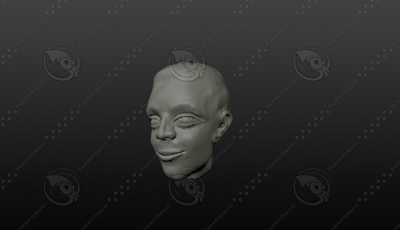 maya man head