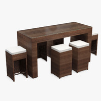 Cubed Pub Rattan Outdoor Furniture Set