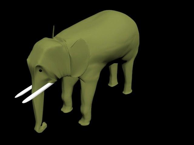 elephant scene animation 3d max