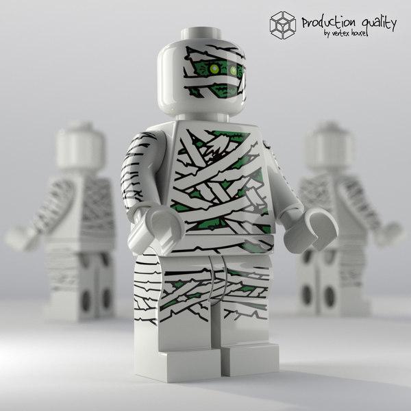 3d max lego mummy figure