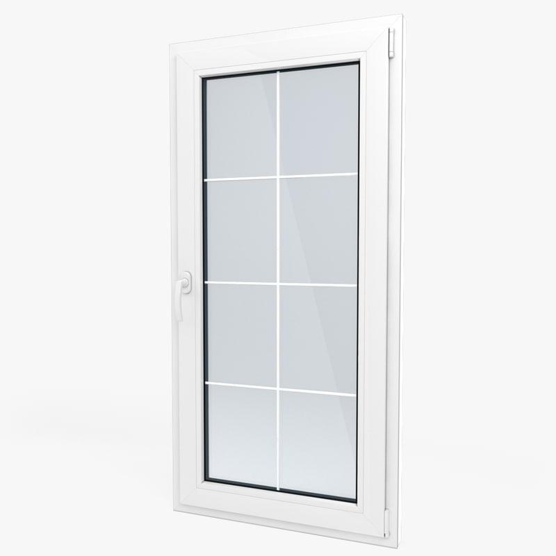 3d model modern pvc window