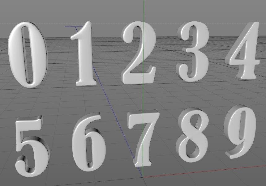 obj fancy numbers