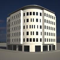 3d corner building