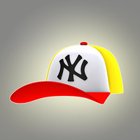 cartoon cap 3d model