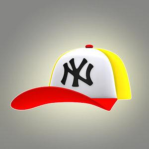 cartoon cap 3d model