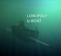 u-boat world war 3d model