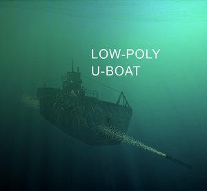 u-boat world war 3d model