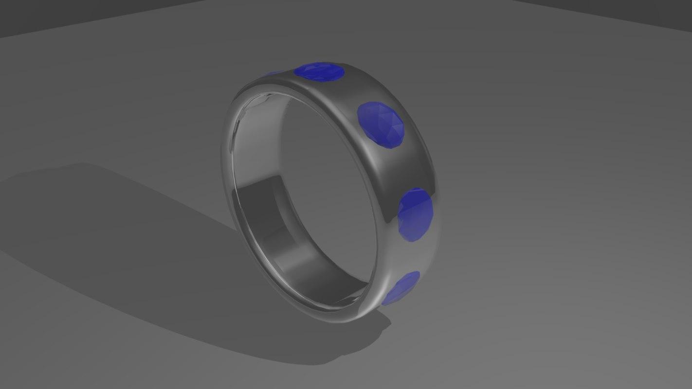 3d platinum ring model