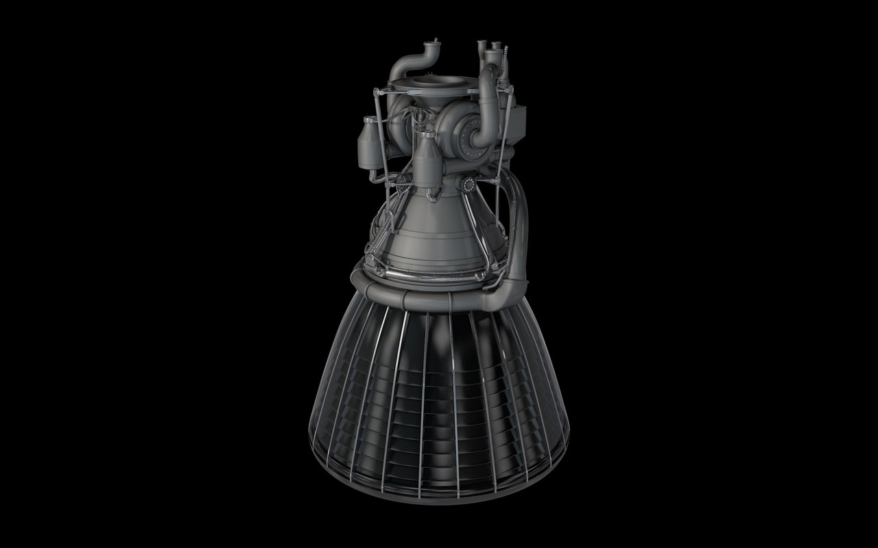 3d rocket engine motors model