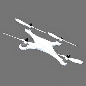 3d quadcopter model