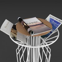 3d table magazines real model