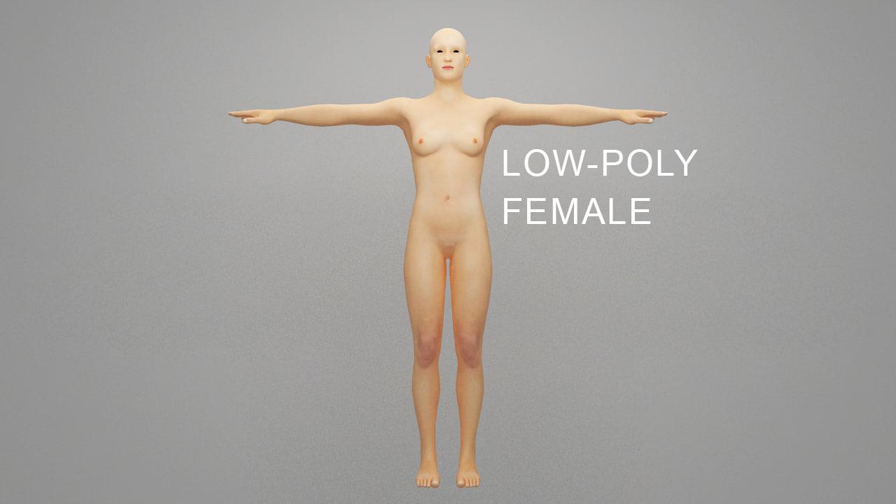 3d model female rigging