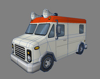 Food truck lowpoly