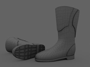 motorbike boots 3d 3ds