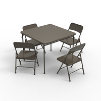 3d max card table chairs
