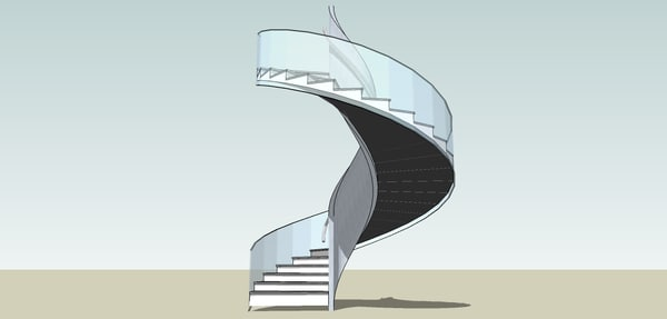 3d model helix stair